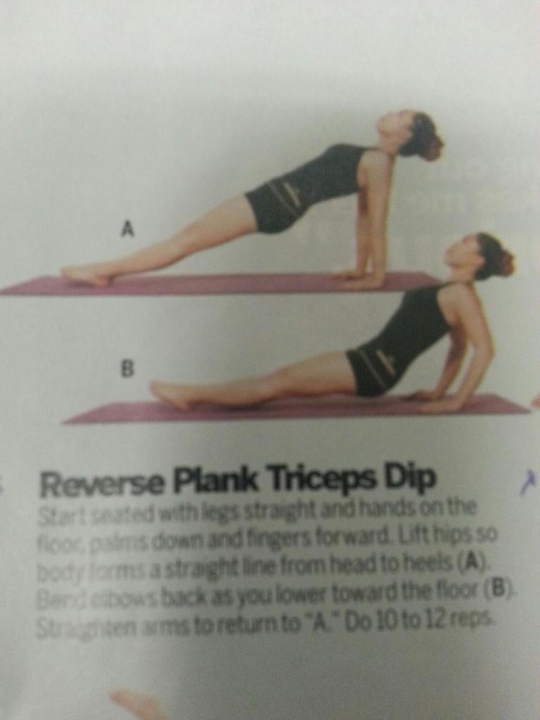 Reverse Plank Triceps Dip